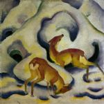 franz marc rehe im schnee oil paintings