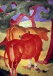 franz marc rote kuhe oil paintings