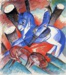 saint julian l hospitalier by franz marc painting