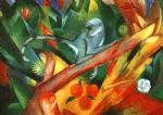 franz marc the monkey oil paintings