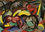 franz marc three horses paintings 34088