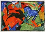 franz marc two horses ii painting