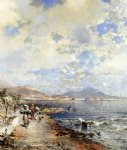 franz richard unterberger the bay of naples painting
