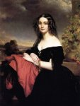 franz xavier winterhalter art - portrait of claire de bearn duchess of vallombrosa by franz xavier winterhalter