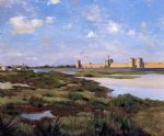 frederic bazille watercolor paintings - aigues mortes by frederic bazille