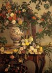 frederic bazille watercolor paintings - flowers by frederic bazille