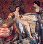 frederic bazille watercolor paintings - la toilette by frederic bazille