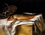 still life famous paintings - still life with fish by frederic bazille