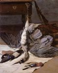 frederic bazille watercolor paintings - still life with heron by frederic bazille
