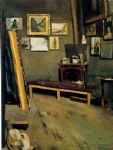 frederic bazille watercolor paintings - studio of the rue visconti by frederic bazille