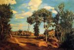 frederic bazille watercolor paintings - the banks of the lez by frederic bazille