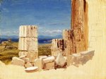 frederic edwin church broken columns view from the parthenon athens painting