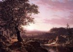 frederic edwin church july sunset berkshire county massachusetts painting 33875