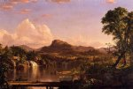 scenery acrylic paintings - new england scenery by frederic edwin church