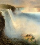 american print - niagara falls from the american side by frederic edwin church