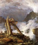mountain original paintings - storm in the mountains ii by frederic edwin church