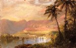 tropical watercolor paintings - tropical landscape iii by frederic edwin church