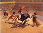 frederic remington acrylic paintings - bull fight in mexico by frederic remington