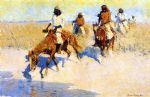 pool in the desert by frederic remington prints