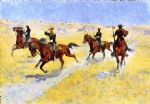 frederic remington acrylic paintings - the advance by frederic remington