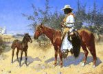 frederic remington the sentinel painting