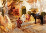 frederick arthur bridgeman famous paintings - a street in algeria by frederick arthur bridgeman