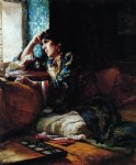 frederick arthur bridgeman aicha a woman of morocco painting