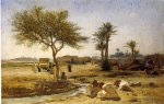 frederick arthur bridgeman an arab village painting