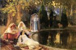 frederick arthur bridgeman famous paintings - in the garden at mustapha by frederick arthur bridgeman