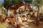 frederick arthur bridgeman famous paintings - market scene by frederick arthur bridgeman