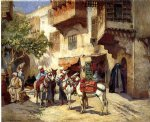 frederick arthur bridgeman famous paintings - marketplace in north africa by frederick arthur bridgeman