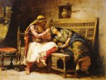frederick arthur bridgeman famous paintings - queen of the brigands by frederick arthur bridgeman