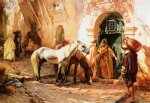 frederick arthur bridgeman famous paintings - scene in morocco by frederick arthur bridgeman
