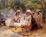 frederick arthur bridgeman famous paintings - the card players by frederick arthur bridgeman