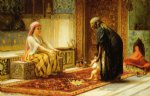 frederick arthur bridgeman famous paintings - the first steps by frederick arthur bridgeman