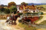 the old bridge normandy by frederick arthur bridgeman painting