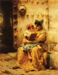 the reading lesson by frederick arthur bridgeman painting