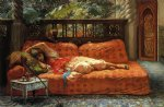 the siesta by frederick arthur bridgeman painting