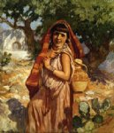 the water carrier by frederick arthur bridgeman painting