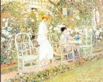 lilies by frederick carl frieseke painting