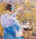 the birdcage by frederick carl frieseke painting
