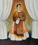 frida kahlo famous paintings - self portrait dedicated to leon trotsky by frida kahlo