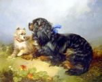 king charles spaniel and a terrier by george armfield prints