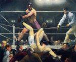 supplies acrylic paintings - dempsey and firpo by george bellows