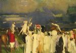 george bellows artwork - polo crowd by george bellows
