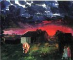 george bellows artwork - red sun by george bellows