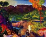 george bellows artwork - romance of autumn by george bellows