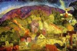 george bellows artwork - the village on the hill by george bellows