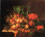 george forster famous paintings - still life with fruit ii by george forster