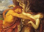 orpheus and eurydice detail by george frederick watts painting